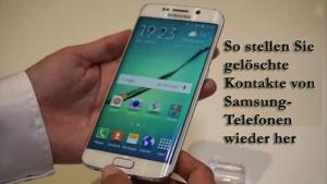 Samsung Kontakte Verschwunden