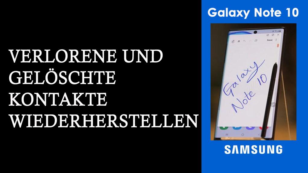 verlorene Kontakte von Samsung Galaxy Note 10