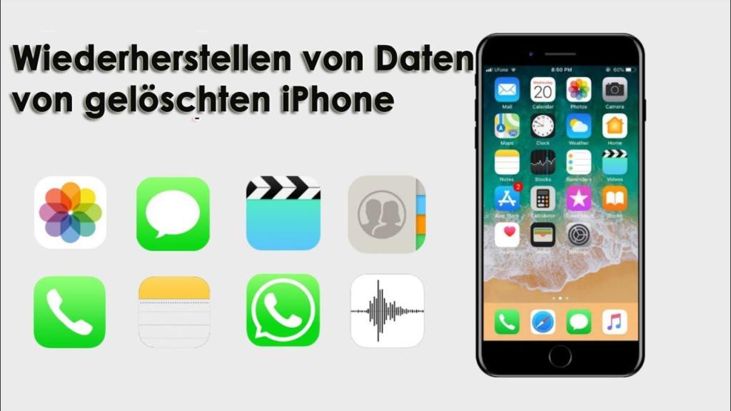 Wiederherstellen von Daten von gelöschten iPhone