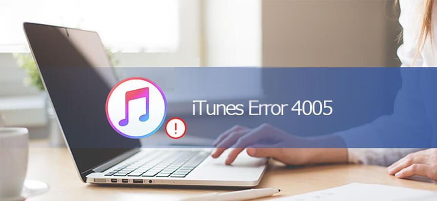Behebung des iTunes-Fehlers 4005